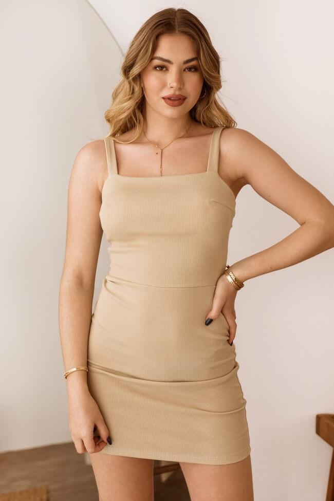 Φόρεμα Ριπ Ελαστικό με Δέσιμο Πίσω