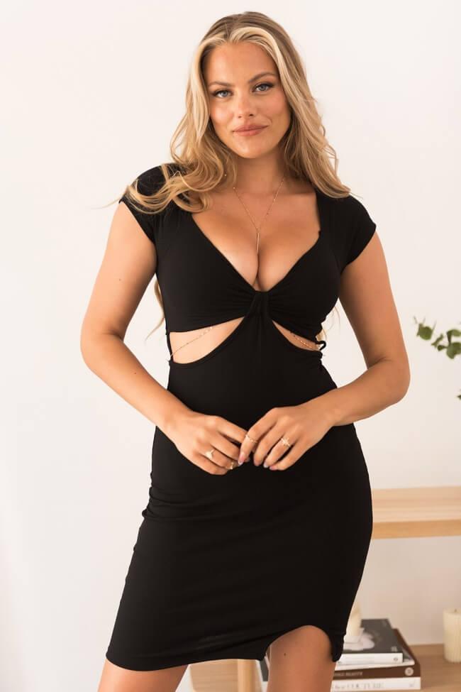 Φόρεμα Ριπ High Cut με Ενίσχυση στο Μπούστο