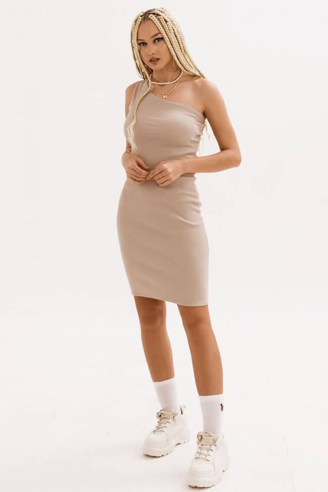 Φόρεμα Ριπ με Έναν Ώμο