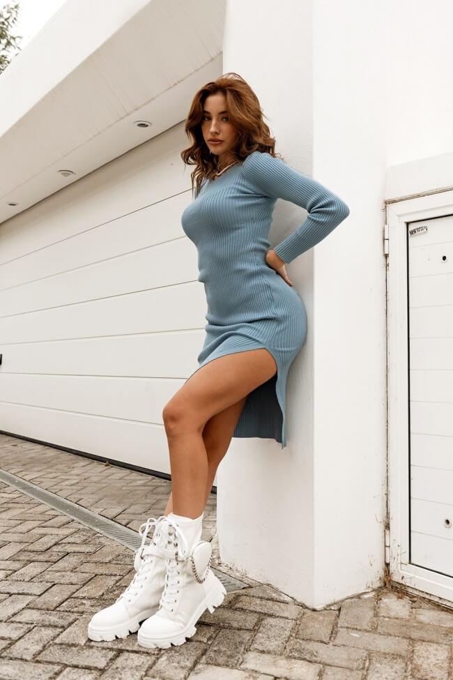 Φόρεμα Ριπ με Σκίσιμο στο Πλάι