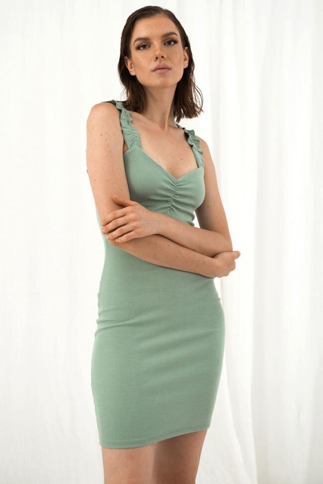 Φόρεμα Ριπ με Σούρα