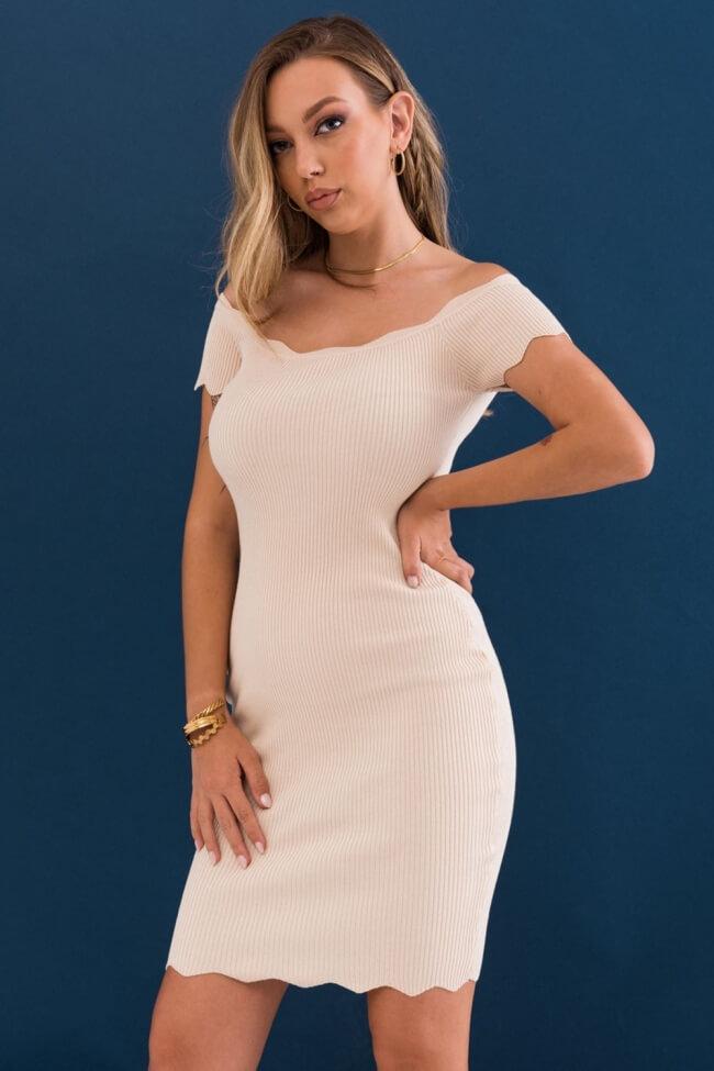 Φόρεμα Ripped  Εφαρμοστό