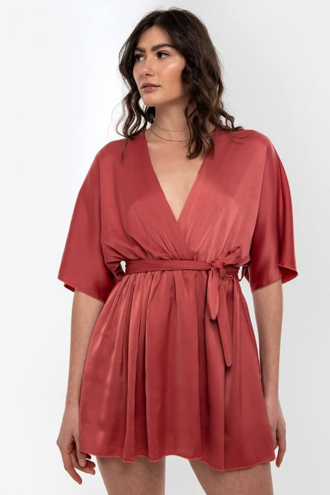 Φόρεμα Σατέν Κρουαζέ