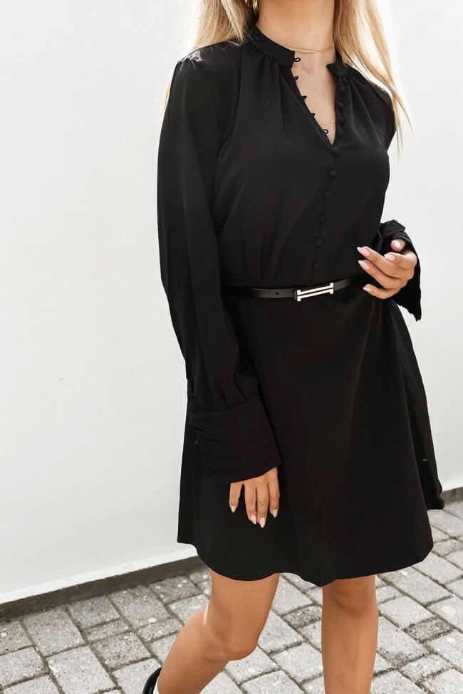 Φόρεμα Σατέν με Κουμπιά