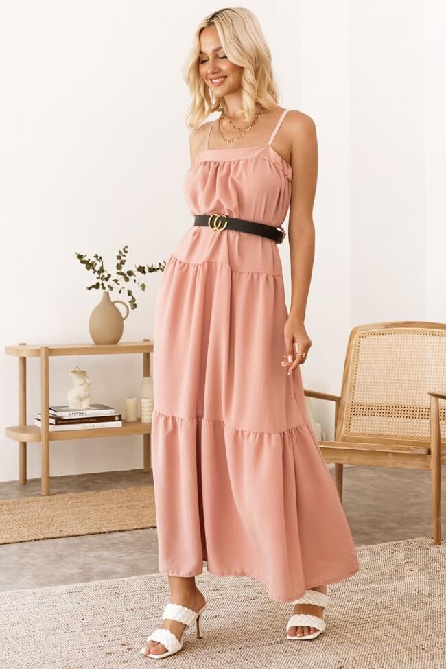 Φόρεμα Strapless με Ζωνάκι