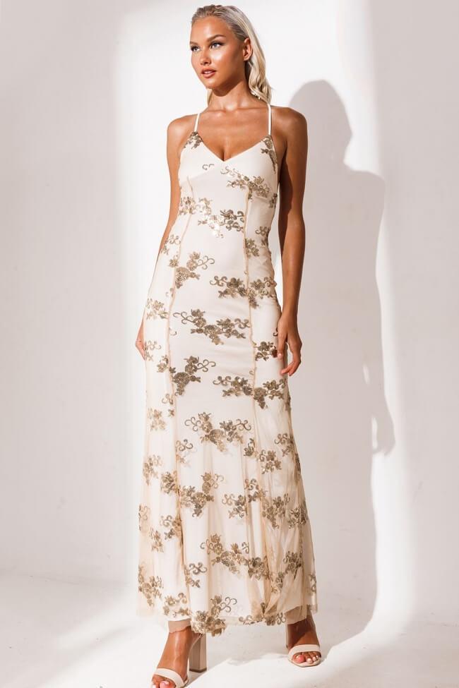 Φόρεμα Βραδινό με Μακρύ Κορδόνι