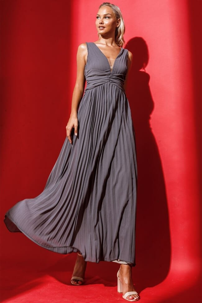 Φόρεμα Βραδινό Πλισέ