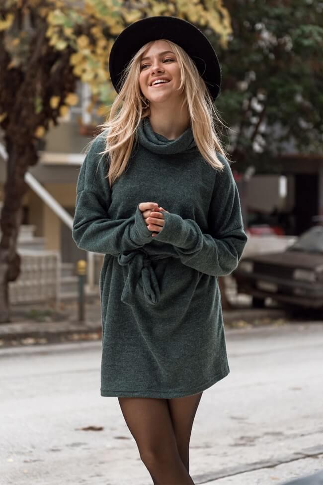 Φόρεμα Ζιβάγκο με Ζωνάκι