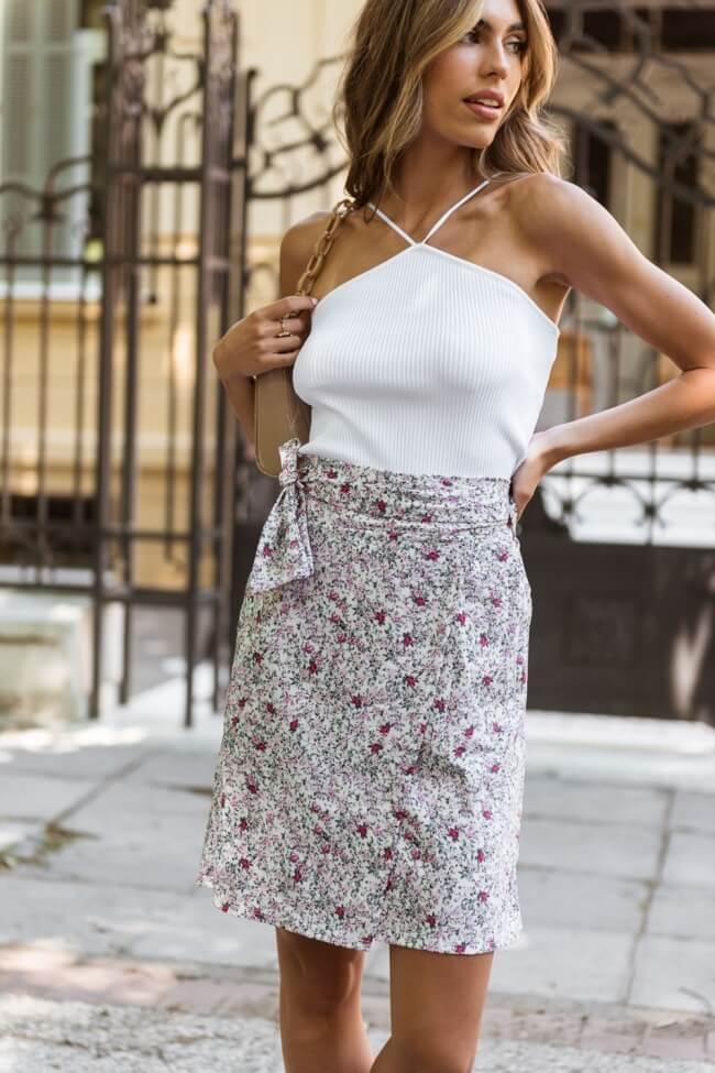 Φούστα Floral Κρουαζέ