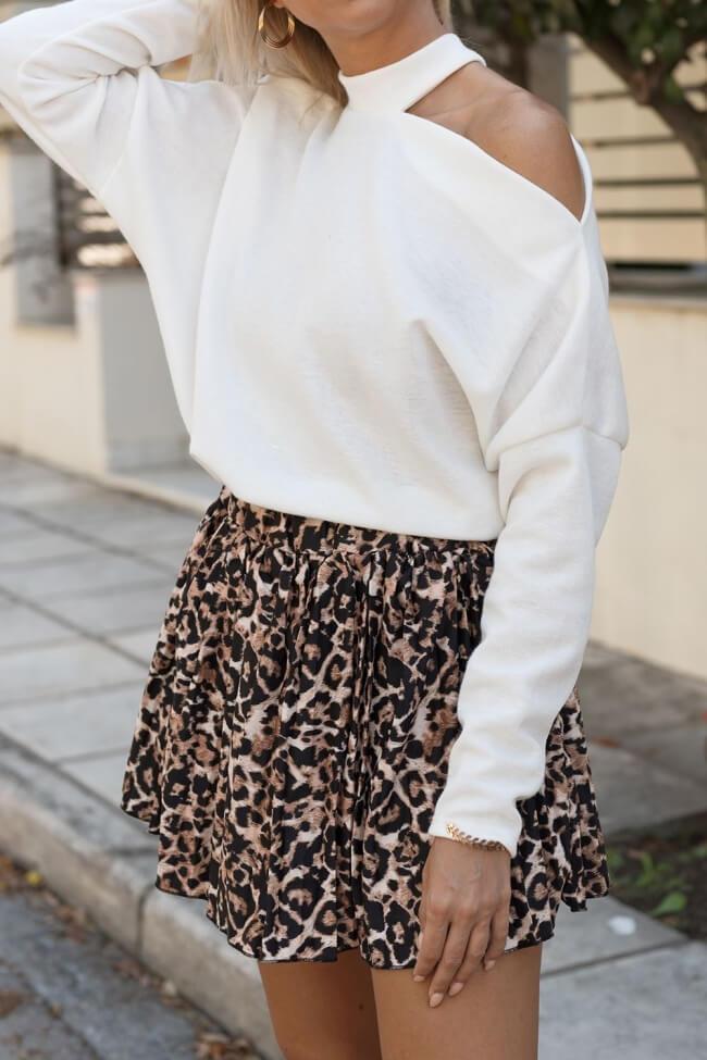 Φούστα-Shorts Πλισέ