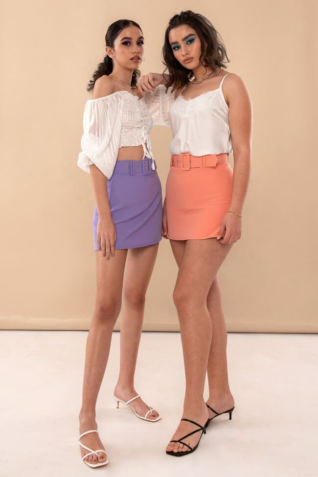 Φούστα-Shorts με Ζώνη