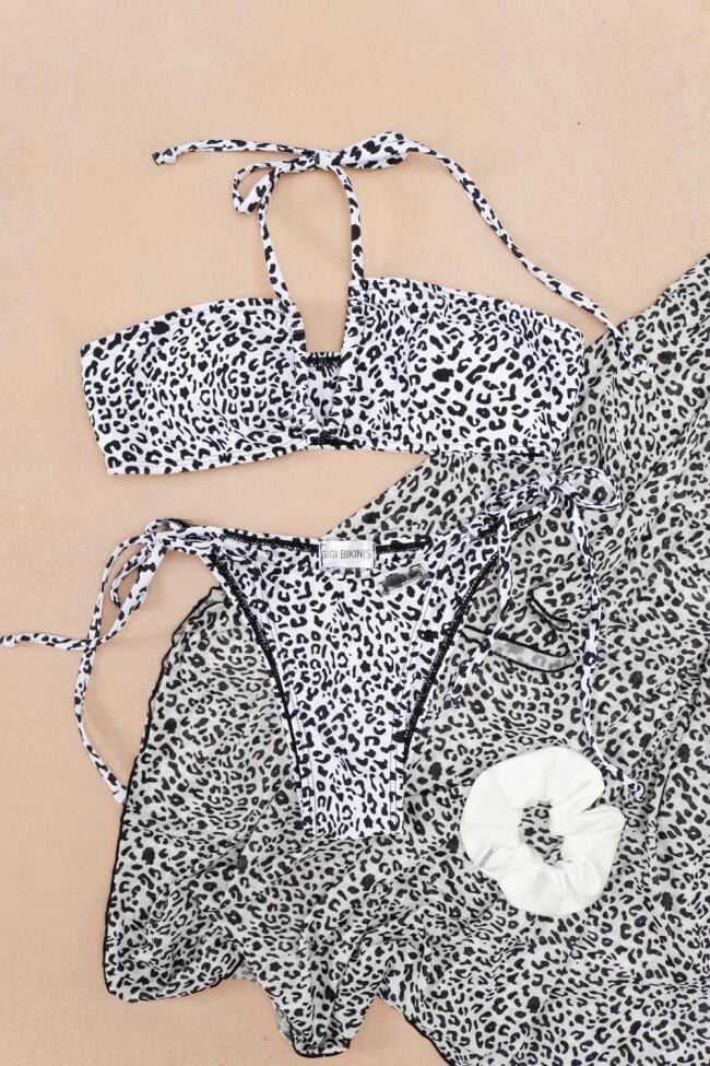 GIGI-Μαγιόν Σετ Μπικίνι με Παρεό Animal Print