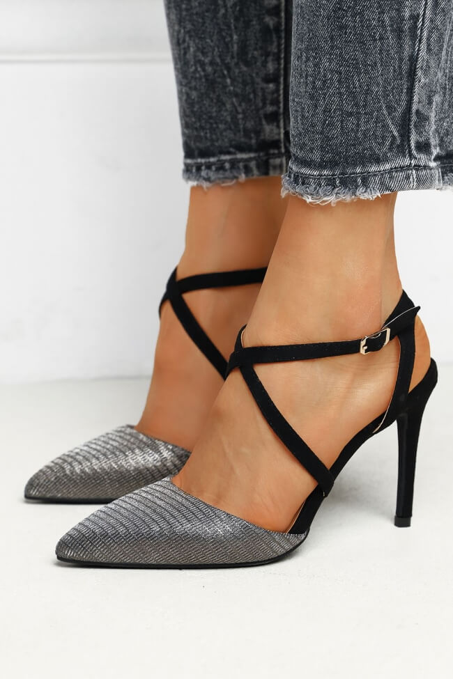 Γόβες Open Heel Lurex