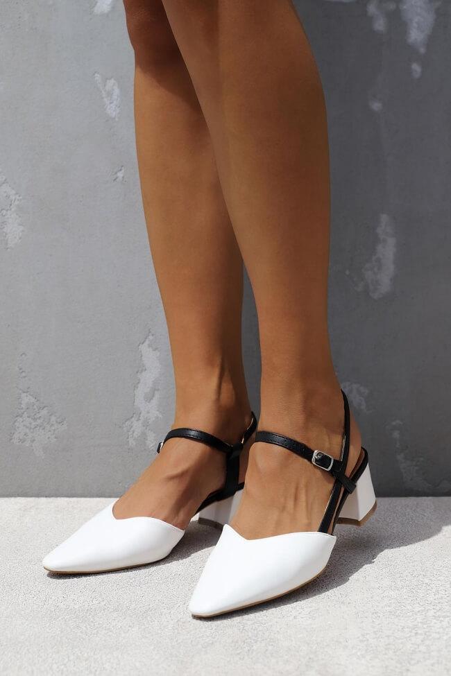 Γόβες Open Heel με Λουράκια