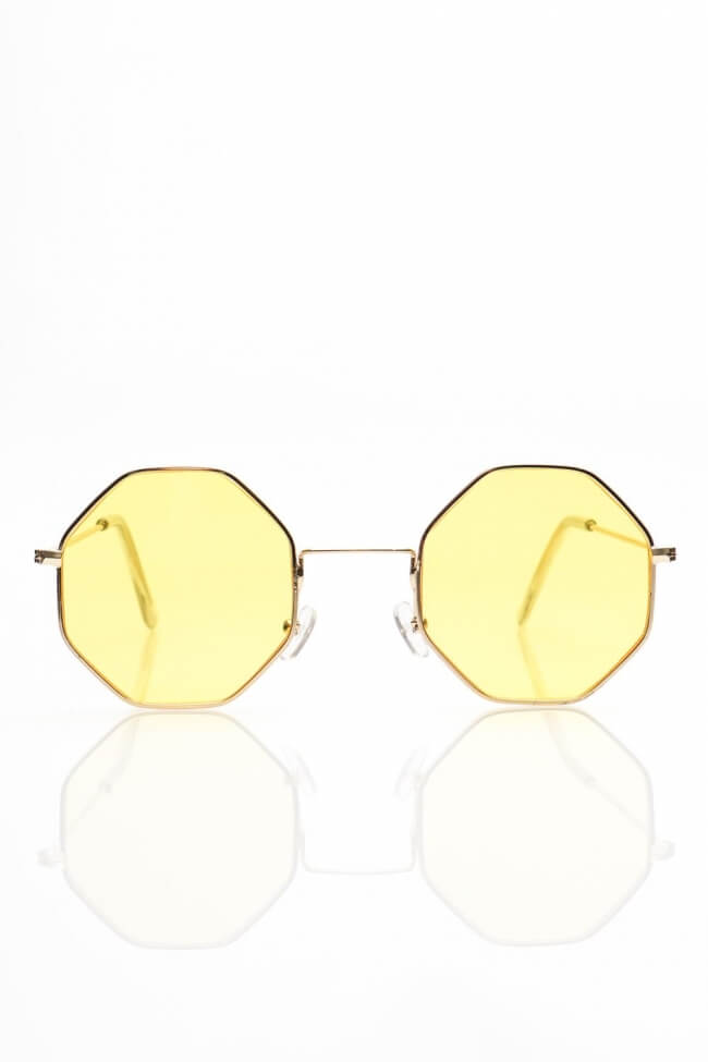 Γυαλιά Ηλίου με Πολυγωνικό Χρωματιστό Φακό