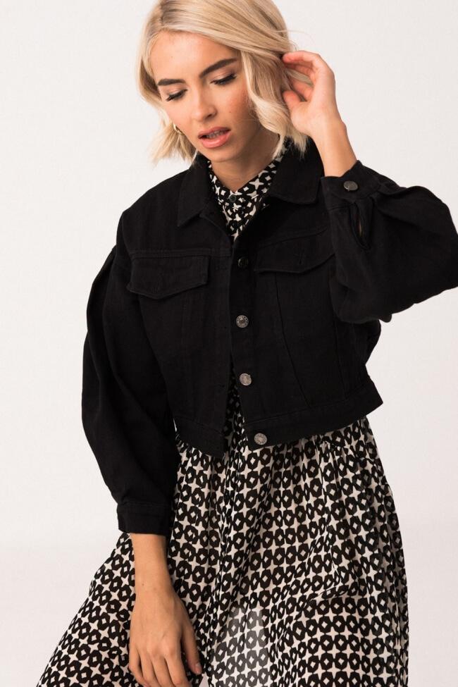 Jacket Crop με Κουμπιά