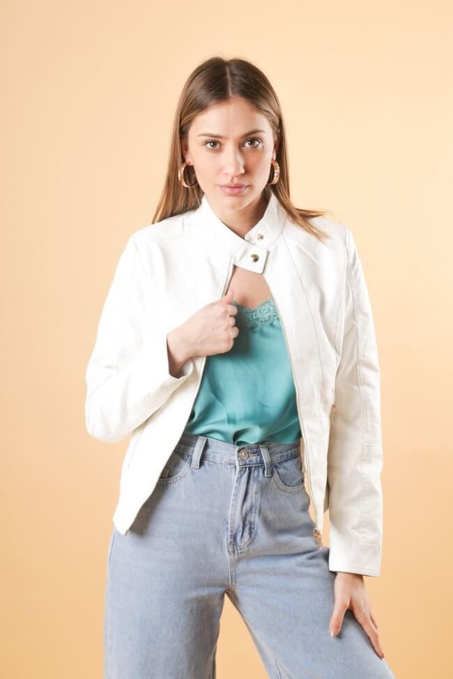 Jacket Δερματίνη με Φερμουάρ
