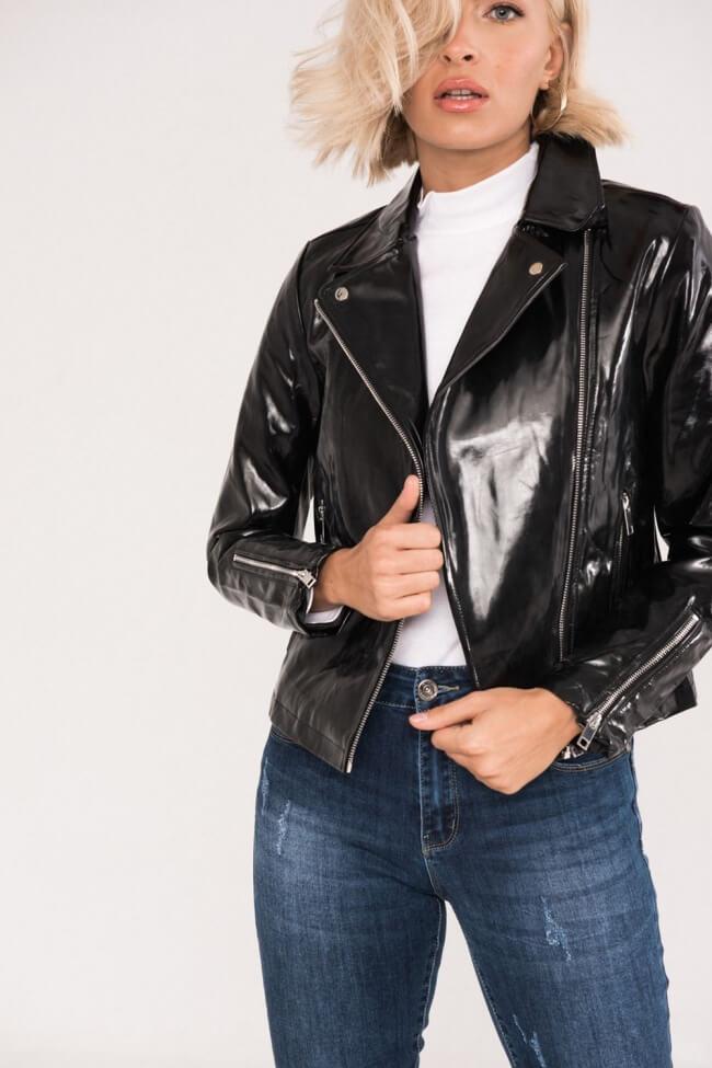 Jacket Vinyl με Φερμουάρ