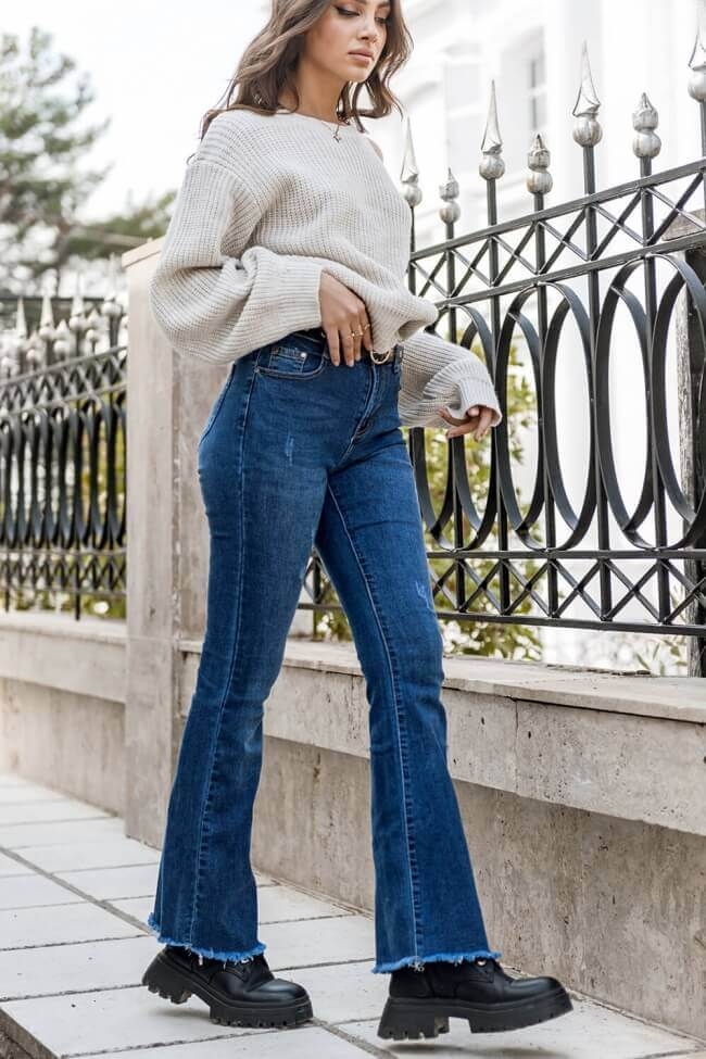 Jean Παντελόνι Ελαστικό High Waist
