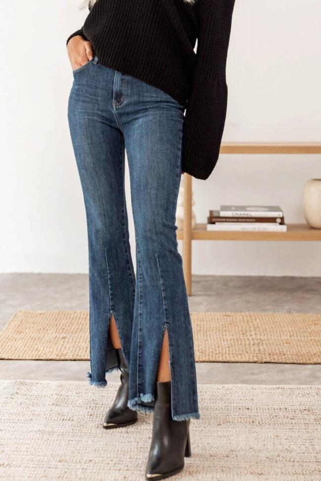 Jean Παντελόνι Ελαστικό με Σκίσιμο Μπροστά