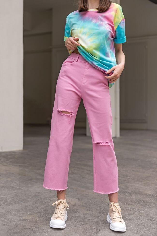 Jean Παντελόνι με Σκισίματα Rainbow