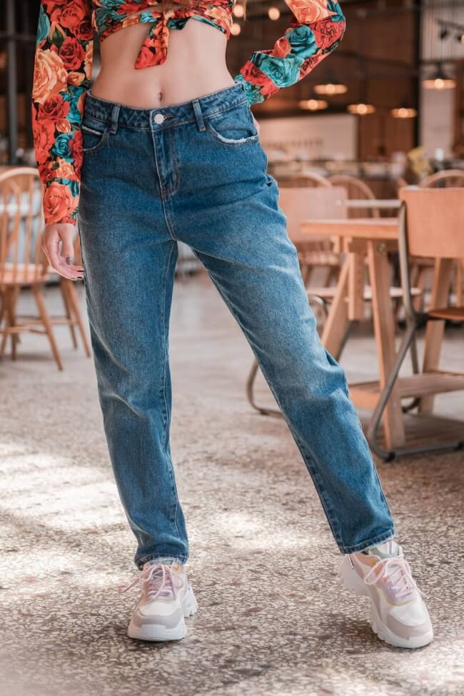Jean Παντελόνι Mom Fit