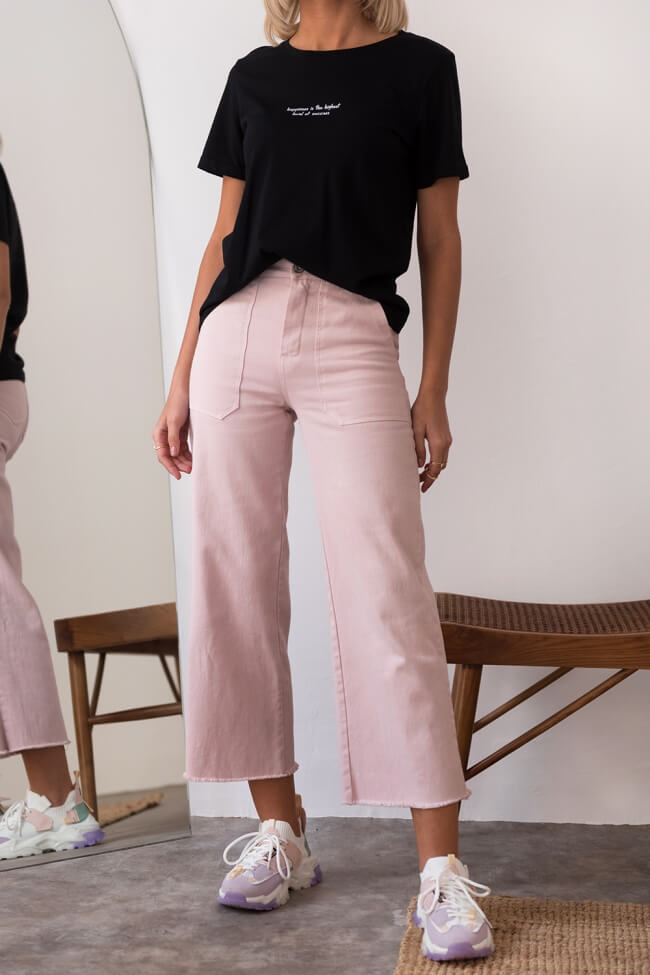 Jean Παντελόνι Zip Culotte με Μεγάλες Τσέπες