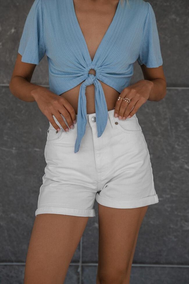 Jean Shorts Λευκό