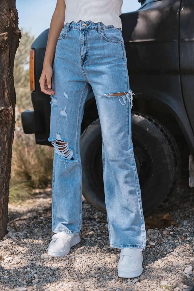 Jean Straight με Σκισίματα