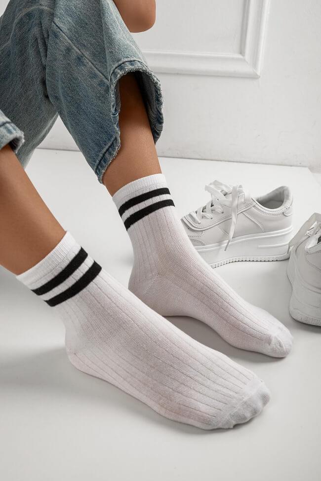 Κάλτσες Ημίκοντες με Διπλή Ρίγα
