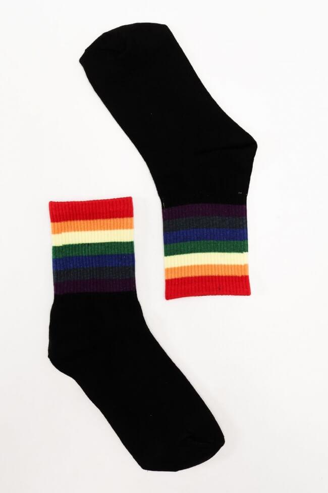 Κάλτσες Ημίκοντες με Φαρδιές Ρίγες