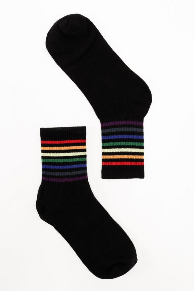 Κάλτσες Ημίκοντες με Λεπτές Ρίγες