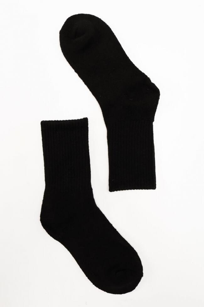 Κάλτσες Ημίκοντες Βαμβακερές Μονόχρωμες