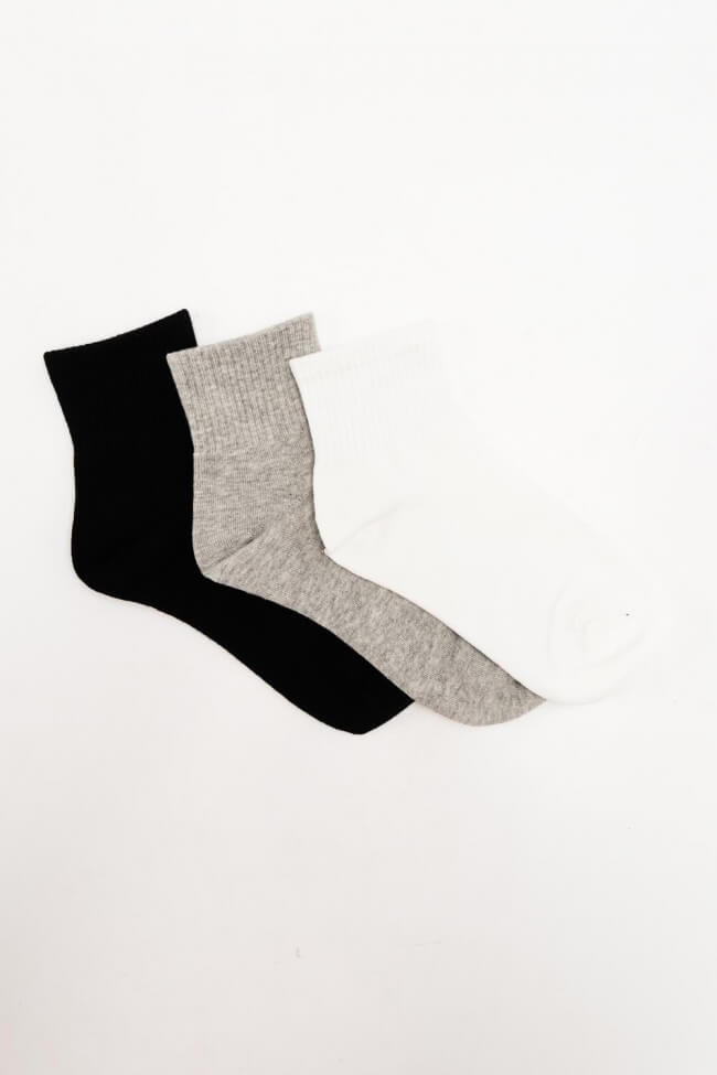Κάλτσες Κοντές Μονόχρωμες