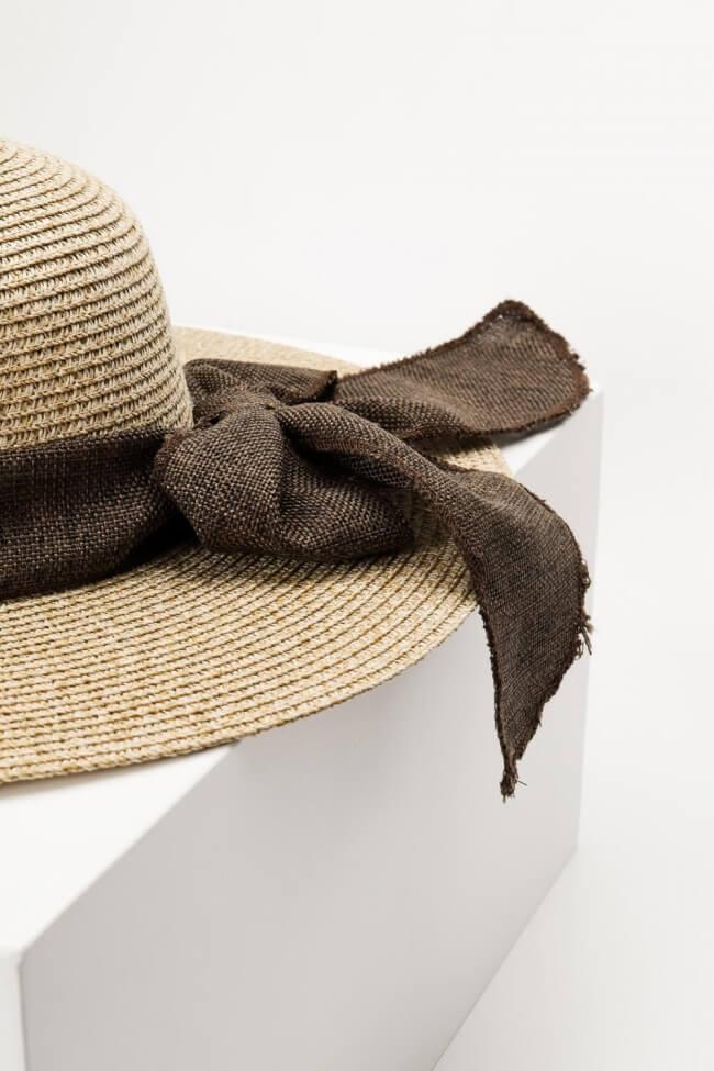 Καπέλο Ψάθινο με Φιόγκο