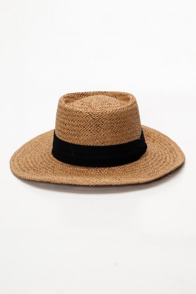 Καπέλο Ψάθινο με Κορδέλα