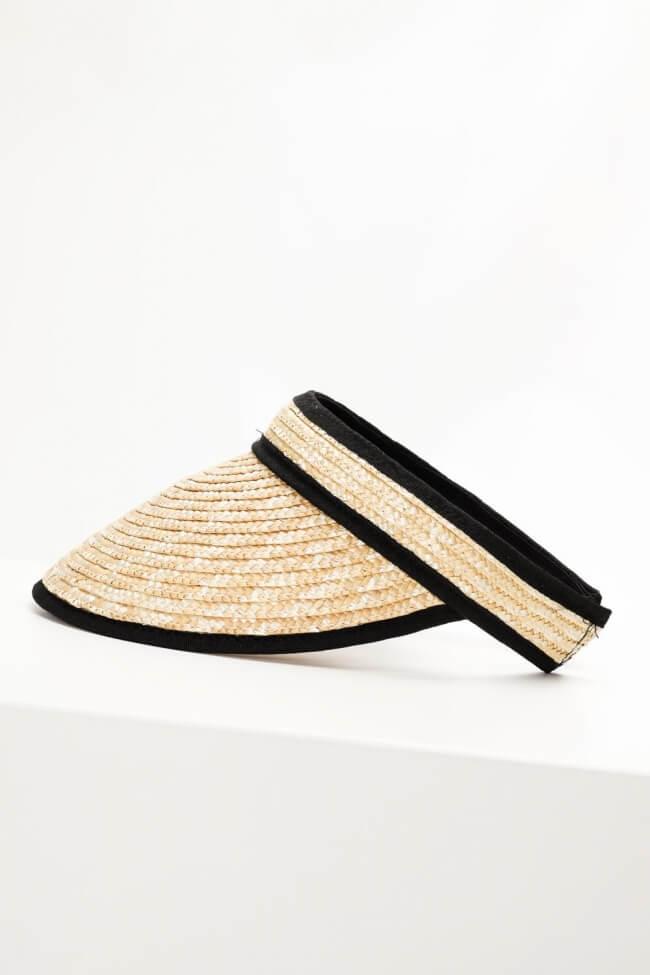 Καπέλο Tennis Ψάθινο Ανοιχτό Πίσω