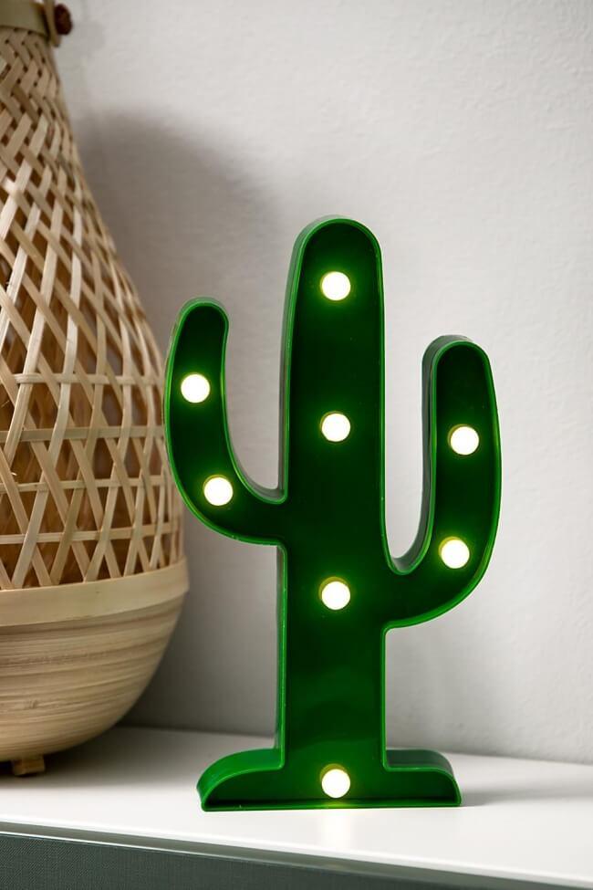 Led Διακοσμητικό Φωτιστικό Cactus