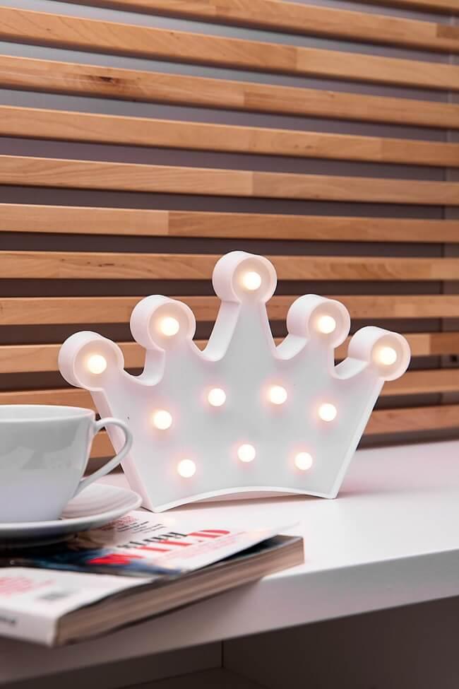 Led Διακοσμητικό Φωτιστικό Crown