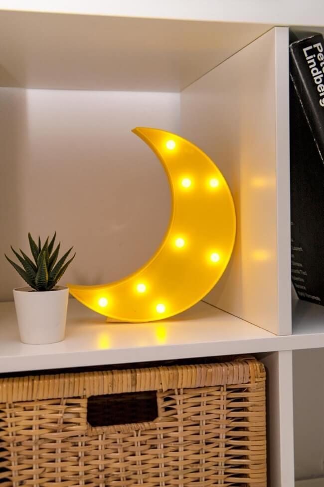 Led Διακοσμητικό Φωτιστικό Moon
