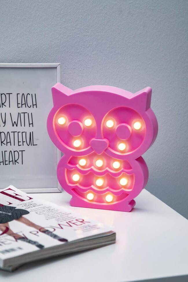 Led Διακοσμητικό Φωτιστικό Owl