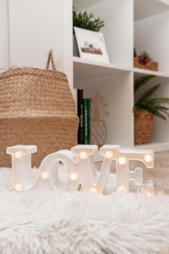 Led Επιτραπέζιο Διακοσμητικό Φωτιστικό LOVE