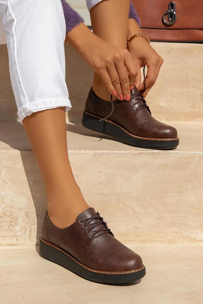 LUIGI DESIGN - Δετά Παπούτσια με Εξωτερική Ραφή