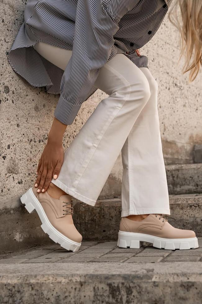 LUIGI DESIGN - Δετά Παπούτσια με Τρακτερωτή Σόλα