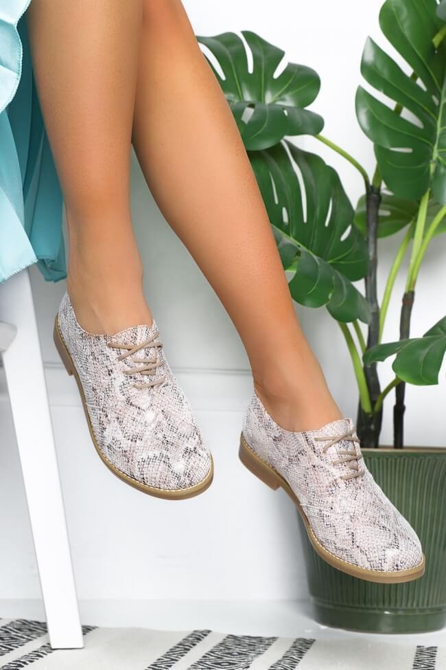 LUIGI DESIGN - Δετά Παπούτσια Snake Print