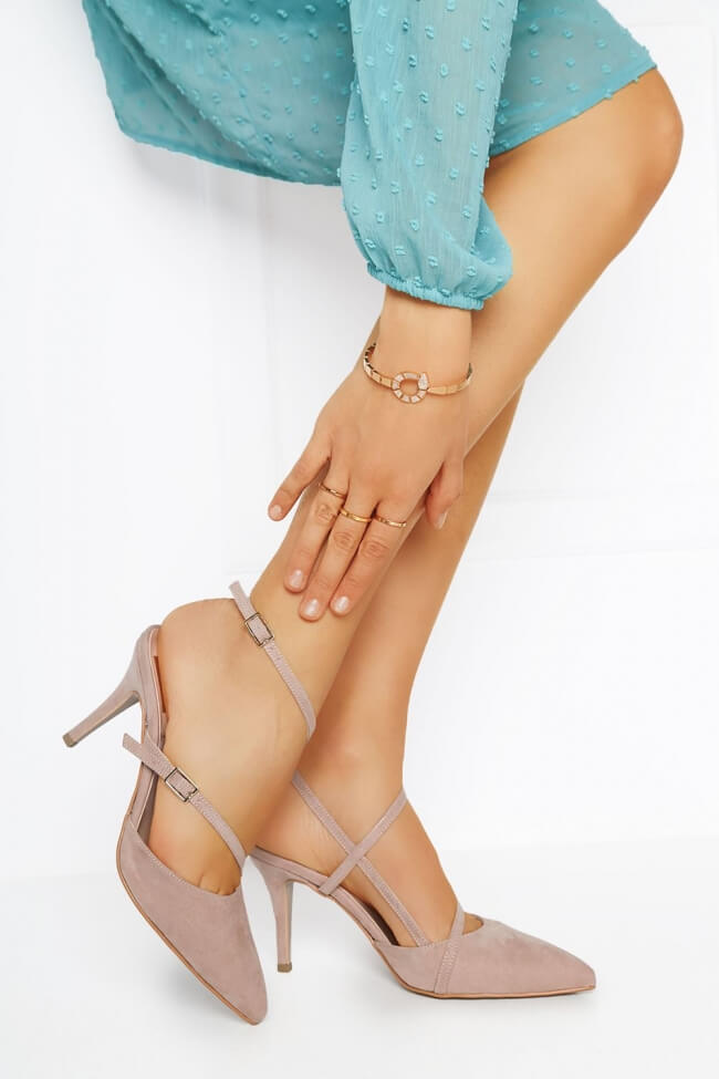 LUIGI DESIGN - Γόβες Μυτερές Open Heel