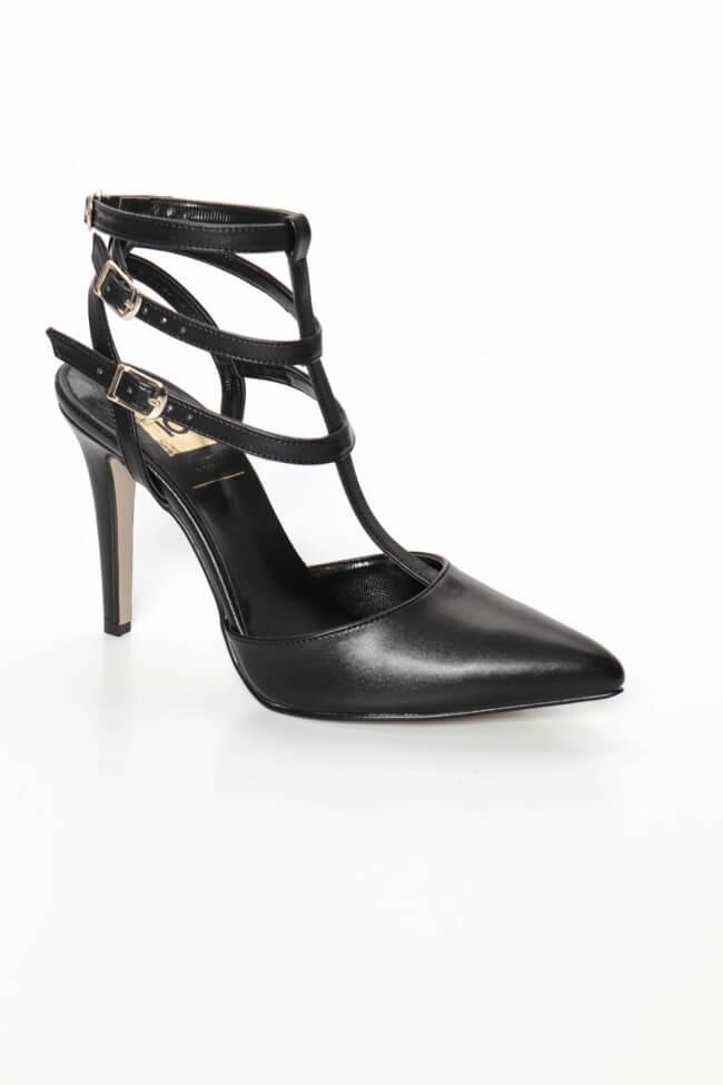 LUIGI DESIGN - Γόβες Μυτερές Open Heel με Λουράκια