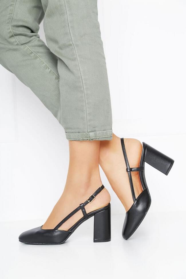 LUIGI DESIGN - Γόβες Open Heel με Λουράκια