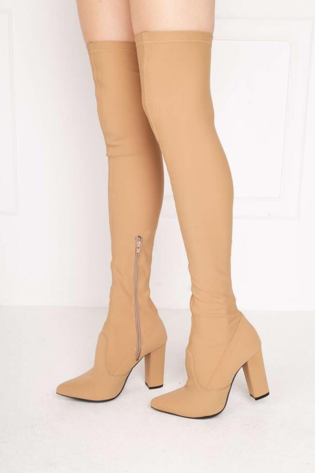 LUIGI DESIGN - Μπότες Κάλτσα Over the Knee