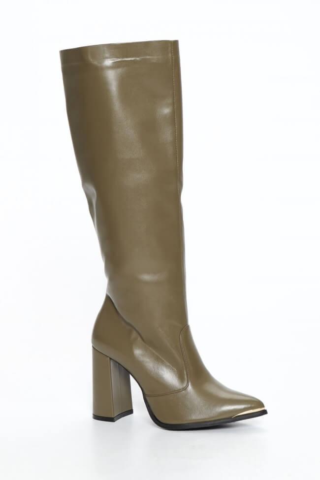 LUIGI DESIGN - Μπότες Μυτερές με Μεταλλική Μύτη